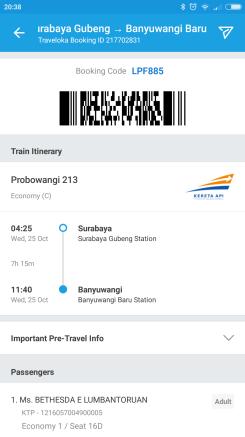 Tiket Kereta Surabaya - Banyuwangi