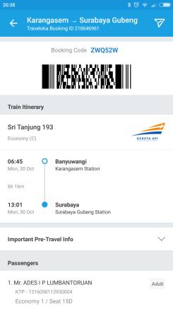 Tiket Kereta Banyuwangi - Surabaya